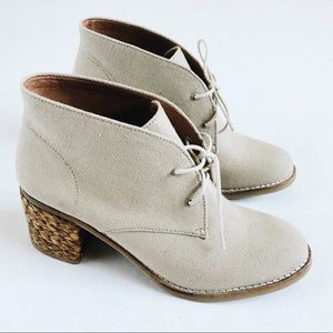 Lucky Brand Womens Canvas Ankle Booties size 9